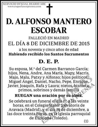 Alfonso Mantero Escobar